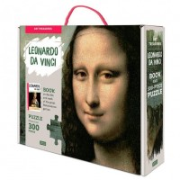 Puzzle Mona Lisa Sassi, 44.5 x 68 cm, 300 piese, 32 pagini, carte inclusa, 6 ani+