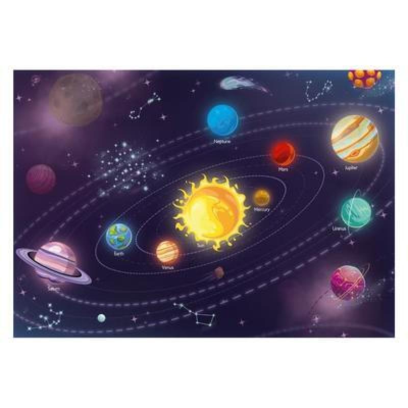 Puzzle Sistemul solar Dino, 47 x 33 cm, 300 piese, 6 ani+ 2021 shopu.ro
