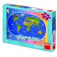 Puzzle XL Harta Lumii, 300 piese, 6-10 ani