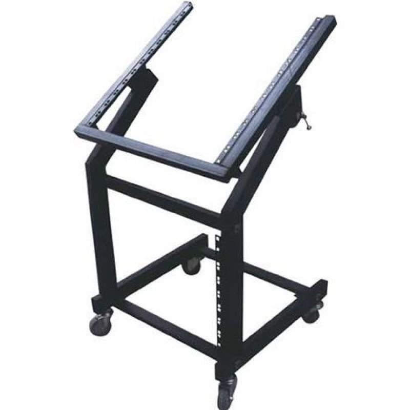 Rack mobil pentru montare amplificatoare/mixere, 19 inch, 4 roti, inaltime 100 cm, maxim 50 kg