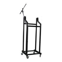 Rack mobil pentru montare amplificatoare/mixere, 19 inch, inaltime 146 cm, maxim 60 kg