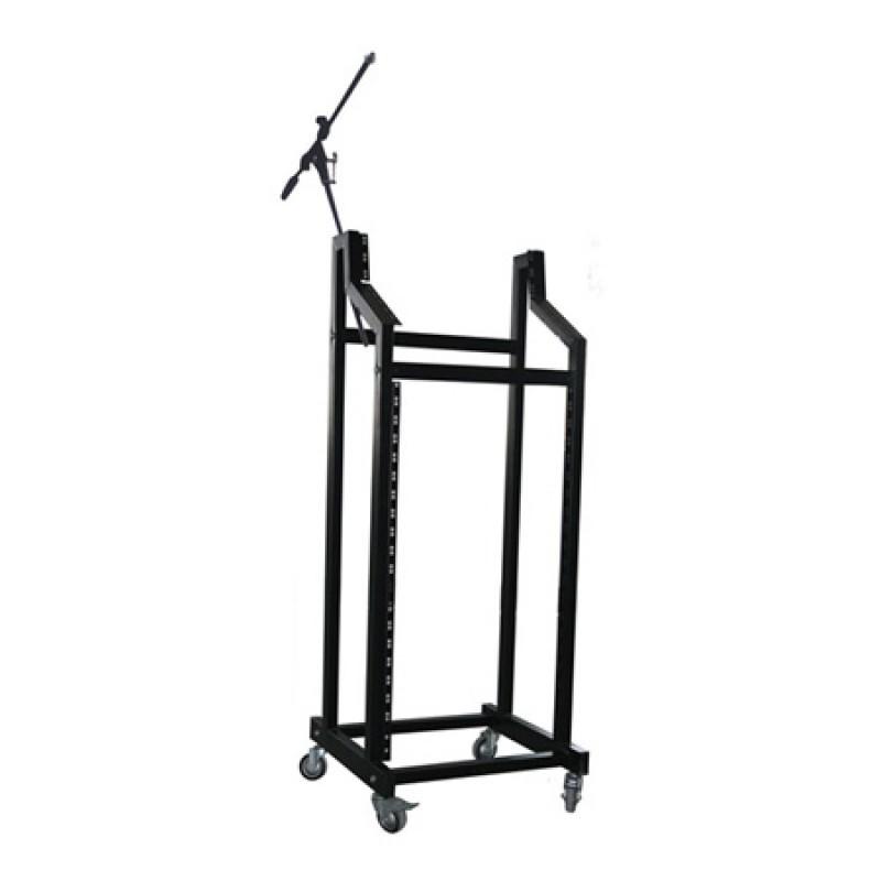Rack mobil pentru montare amplificatoare/mixere, 19 inch, inaltime 146 cm, maxim 60 kg 2021 shopu.ro