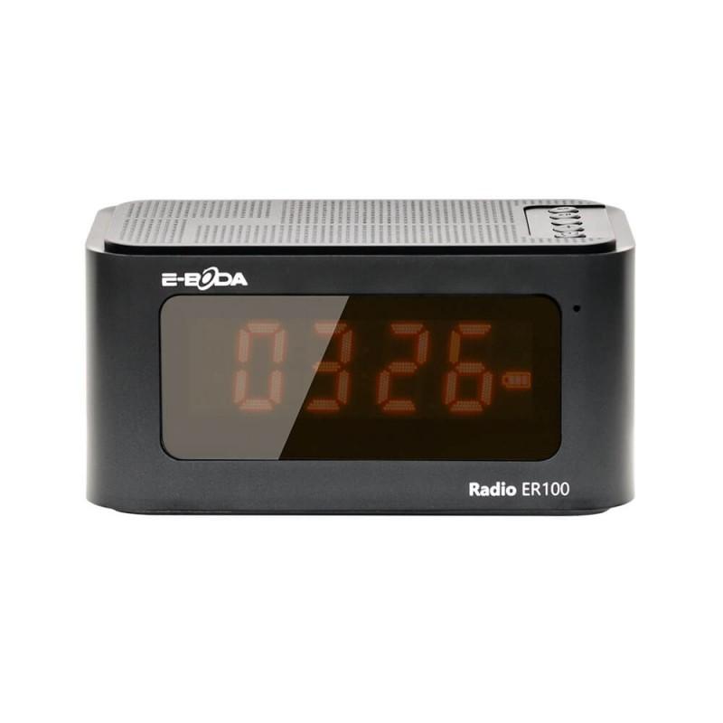 Radio cu ceas digital 6 in 1 E-Boda, Li-Ion, 1200 mAh, ecran LCD, USB 2.0, Negru 2021 shopu.ro