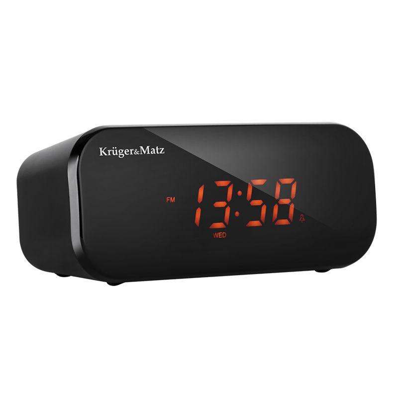 Radio cu ceas Kruger & Matz, alarma duala, 87.5 - 108 MHz