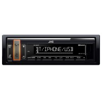 Radio CD Player auto JVC, Media receiver, Bluetooth, USB, Negru