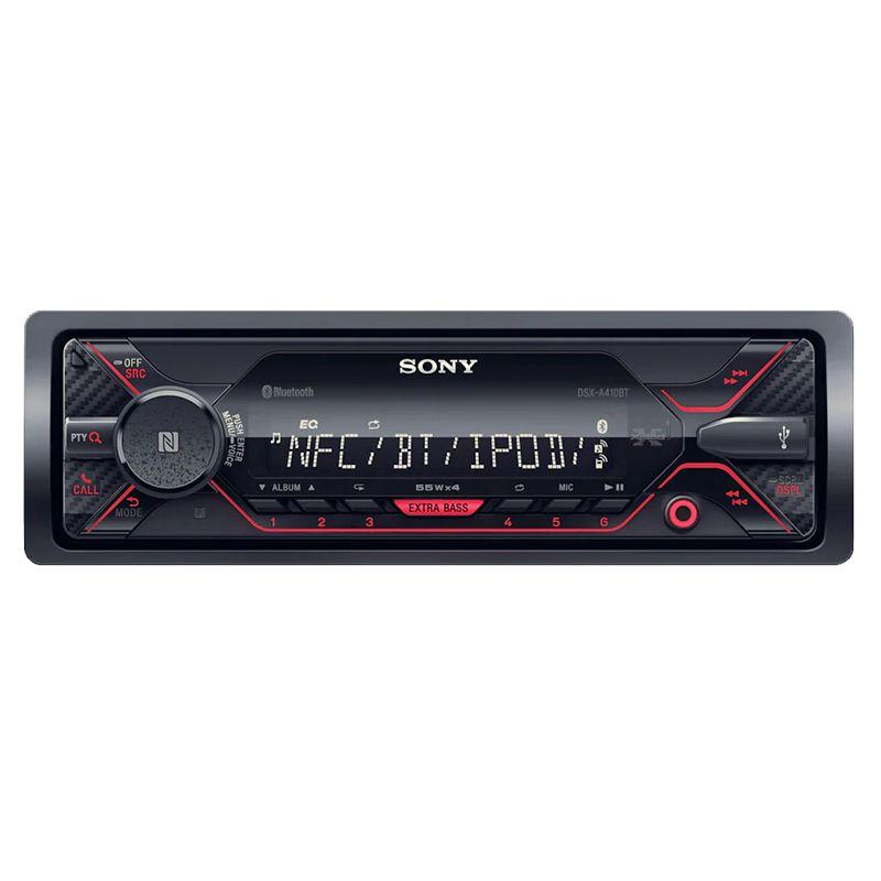 Radio bluetooth Mp3 Player A410 Sony, 4 x 55 W, format 1 DIN, tuner RDS, display digital
