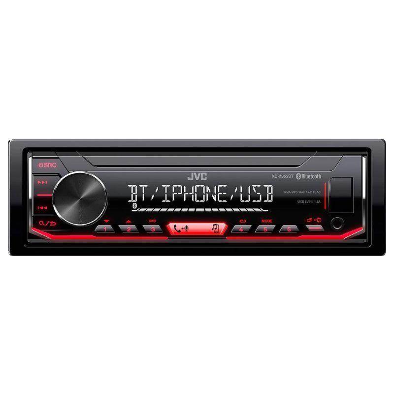 Radio bluetooh MP3 Player KDX352BT JVC, format 1 DIN, display digital 2021 shopu.ro