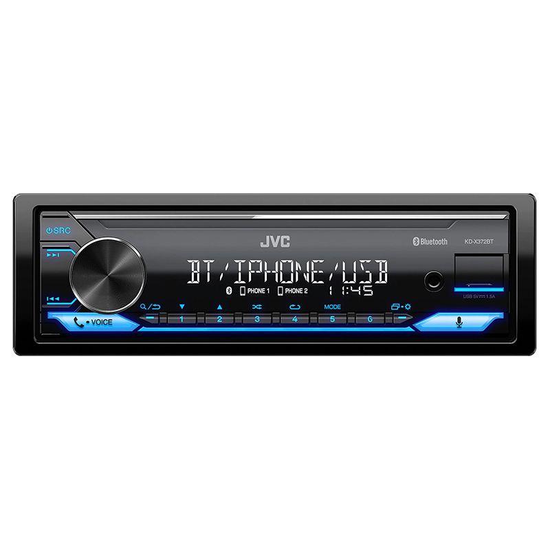 Radio Mp3 player bluetooth KDX372BT JVC, 4 x 50 W, tehnologie K2, ecran LCD, USB, functie tuner 2021 shopu.ro