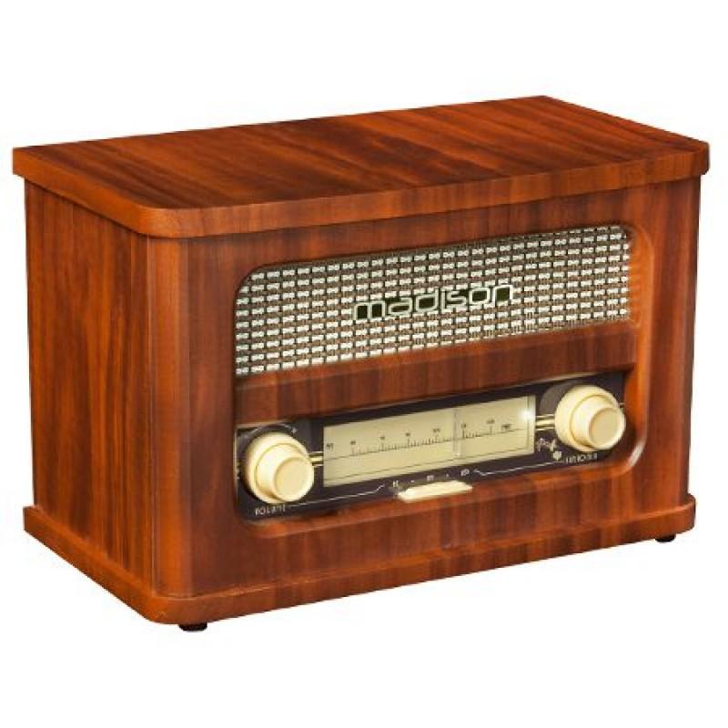 Radio Madison Retro, Bluetooth, acumulator, intrare MP3, maro 2021 shopu.ro