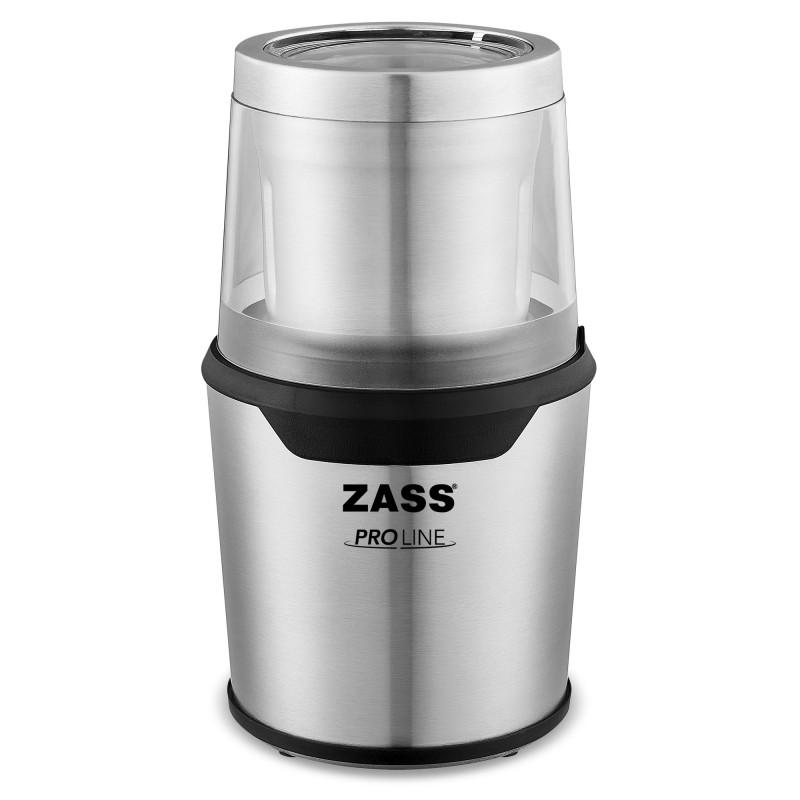 Rasnita de cafea Zass, 200 W, sistem 2 in 1 pentru cafea si condimente, capacitate 85 g, carcasa Inox 2021 shopu.ro