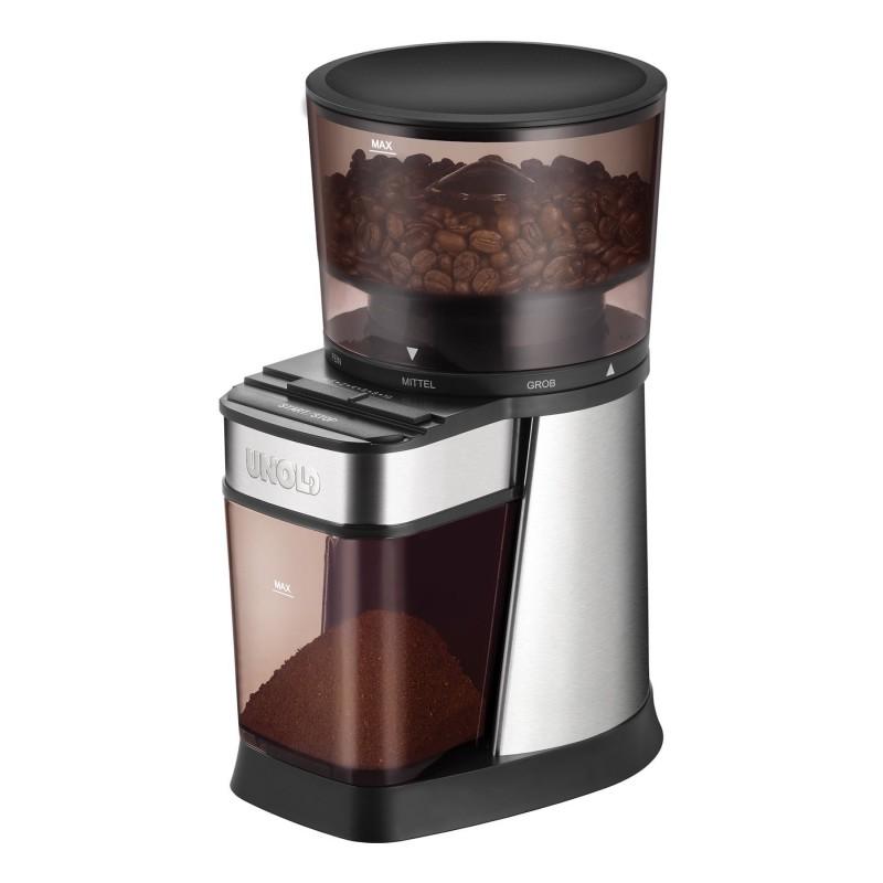 Rasnita electrica pentru cafea Unold, 150 W, 250 g, mecanism otel, carcasa inox 2021 shopu.ro