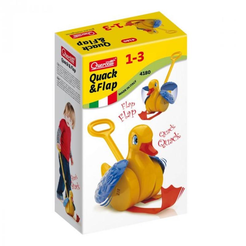 Jucarie interactiva Ratusca Quack&Flap Quercetti, 1 an+ 2021 shopu.ro