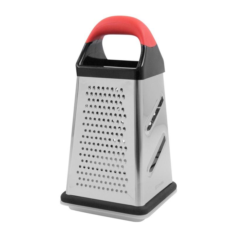 Razatoare Zokura, 25.4 cm, 4 suprafete de razuire, recipient colectare, maner ergonomic, inox 2021 shopu.ro