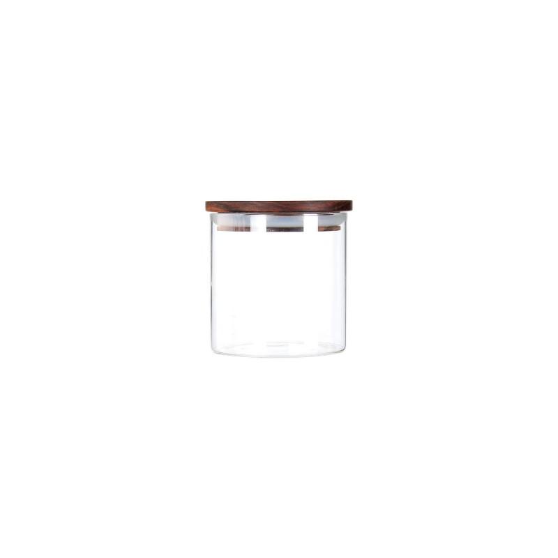 Recipient Zokura, 550 ML, sticla borosilicata, capac lemn, inchidere etansa 2021 shopu.ro