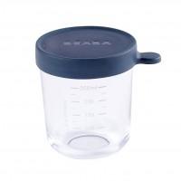 Recipient ermetic sticla Beaba, 250 ml, albastru