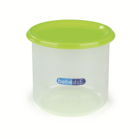 Recipient hrana copii Colours and Flavours BebeduE, 300 ml, Verde/Transparent