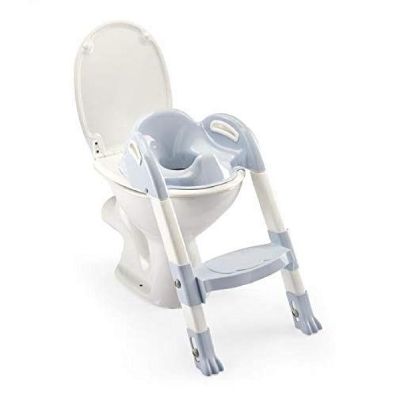 Reductor toaleta cu scarita Kiddyloo Thermobaby, maxim 60 kg, 18 luni+, Albastru 2021 shopu.ro