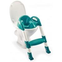 Reductor toaleta cu scarita Kiddyloo Thermobaby, maxim 60 kg, 18 luni+, Turcoaz
