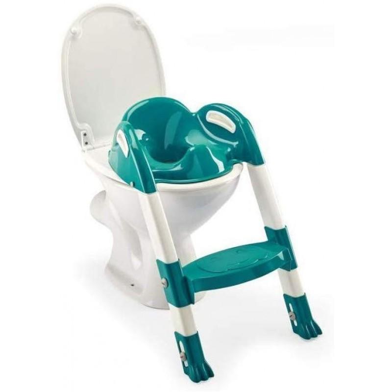 Reductor toaleta cu scarita Kiddyloo Thermobaby, maxim 60 kg, 18 luni+, Turcoaz 2021 shopu.ro