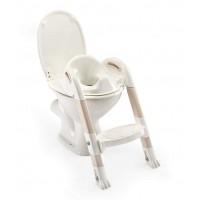 Reductor toaleta cu scarita Kiddyloo Thermobaby, maxim 60 kg, 18 luni+, model marron glace