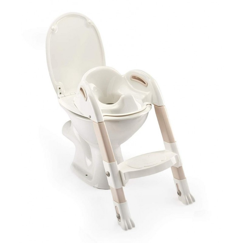 Reductor toaleta cu scarita Kiddyloo Thermobaby, maxim 60 kg, 18 luni+, model marron glace 2021 shopu.ro