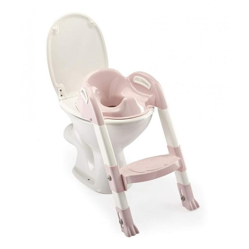 Reductor toaleta cu scarita Kiddyloo Thermobaby, maxim 60 kg, 18 luni+, Roz 2021 shopu.ro