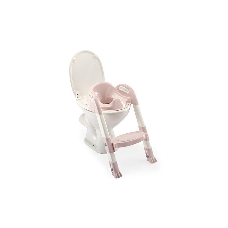 Reductor toaleta cu scarita Kiddyloo Thermobaby, maxim 60 kg, 18 luni+, Roz