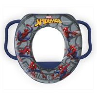 Reductor Wc captusit cu manere Spiderman Star, plastic, 35 x 30 x 7 cm, 12 luni+