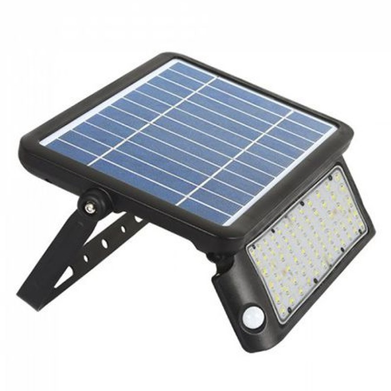 Reflector cu incarcare solara LED, 10 W, temperatura culoare 4000 K 2021 shopu.ro