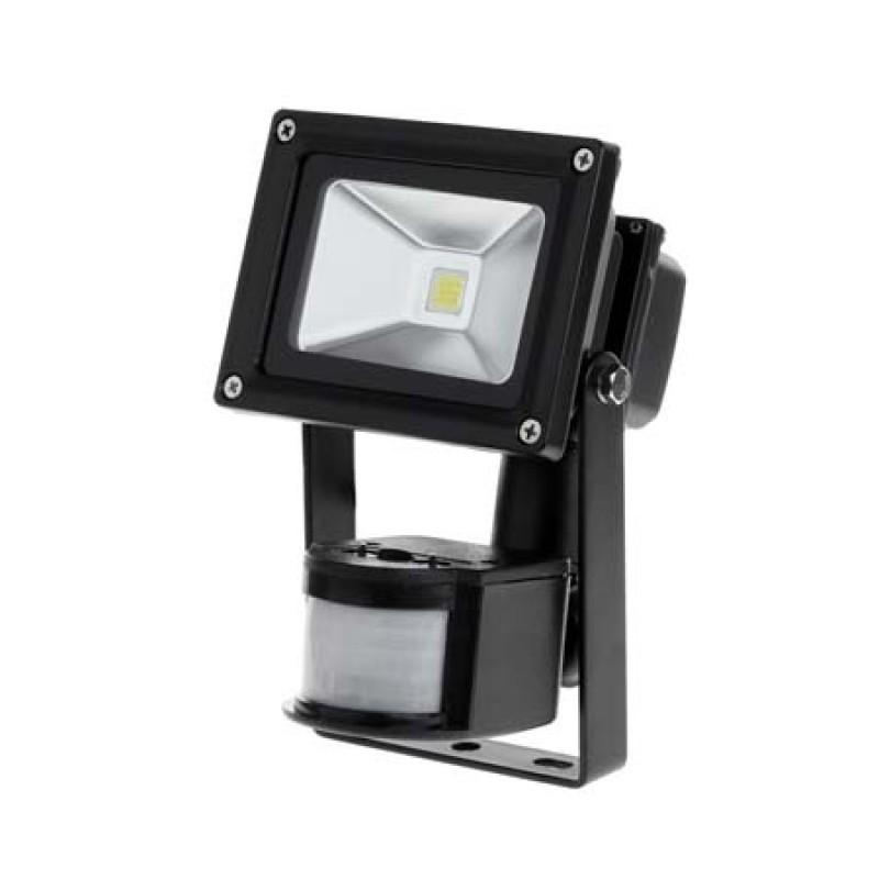 Reflector LED Kemot, putere 10 W, senzor miscare, alb cald, 3000 K 2021 shopu.ro