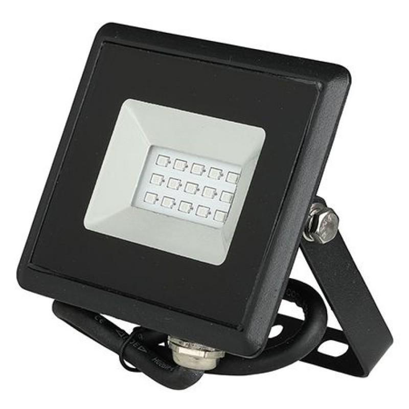 Reflector LED, 10 W, IP65, aluminiu, lumina albastra, Negru 2021 shopu.ro