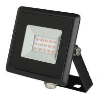 Reflector LED, 10 W, IP65, aluminiu, lumina rosie, Negru