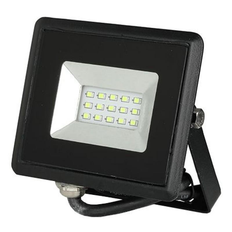 Reflector LED, 10 W, IP65, aluminiu, lumina verde, Negru 2021 shopu.ro
