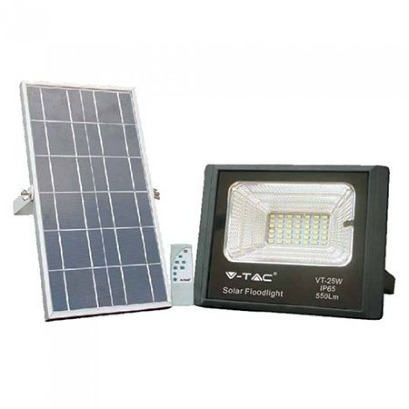 Reflector LED cu incarcare solara, 12 W, temperatura culoare 6000 K