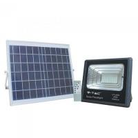 Reflector LED cu incarcare solara, 16 W, temperatura culoare 6000 K