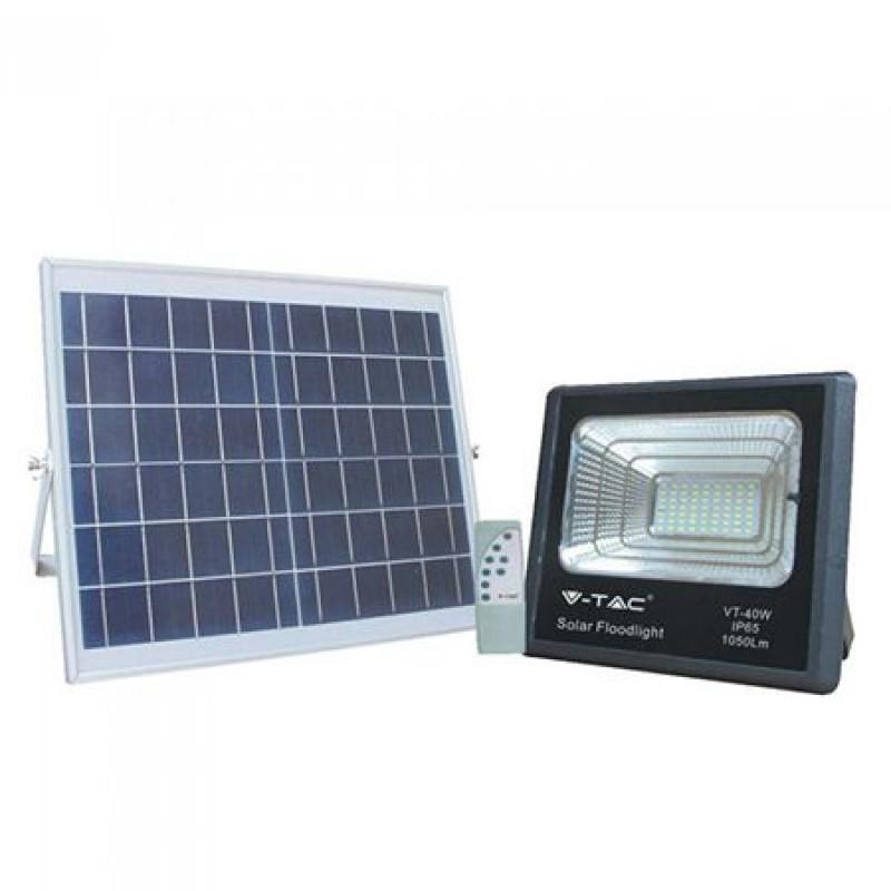 Reflector LED cu incarcare solara, 16 W, temperatura culoare 6000 K shopu.ro