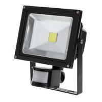 Reflector LED Lechpol, putere 20 W, 80 lm, senzor miscare, alb cald, 3000 K