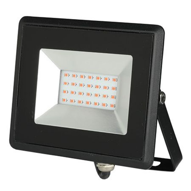 Reflector LED, 20 W, IP65, aluminiu, lumina rosie, Negru 2021 shopu.ro