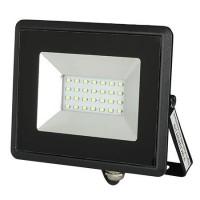 Reflector LED, 20 W, IP65, aluminiu, lumina verde, Negru