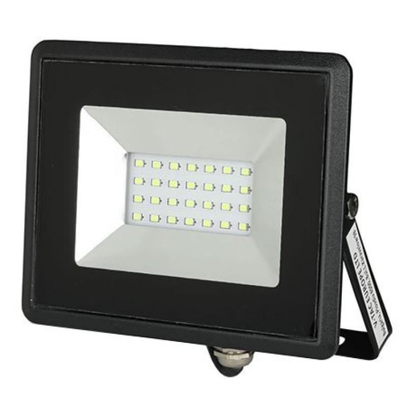 Reflector LED, 20 W, IP65, aluminiu, lumina verde, Negru 2021 shopu.ro