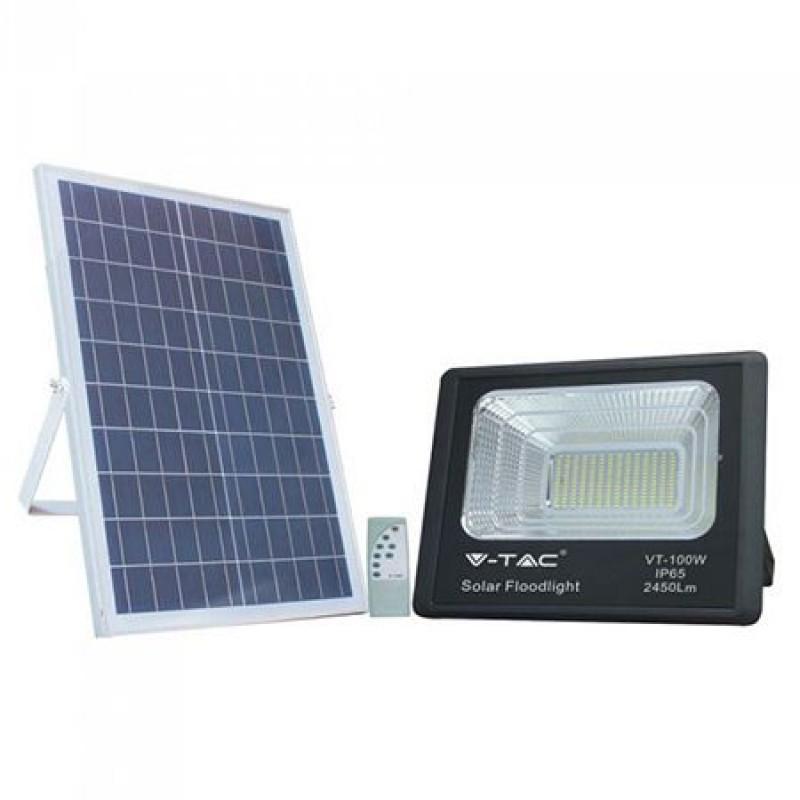 Reflector LED, 35 W, 6000 K, alb rece, incarcare solara shopu.ro