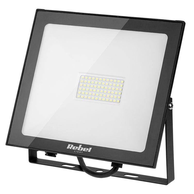 Reflector LED Rebel, 50 W, 3000 K, 4000 lm, 72 x LED, lumina alb calda