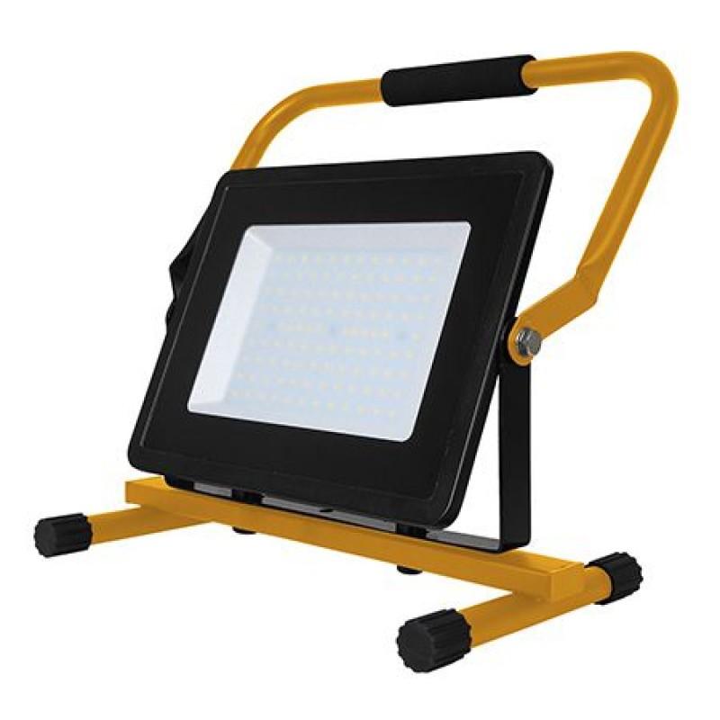 Proiector LED cu suport, 100 W, temperatura alb rece, negru 2021 shopu.ro