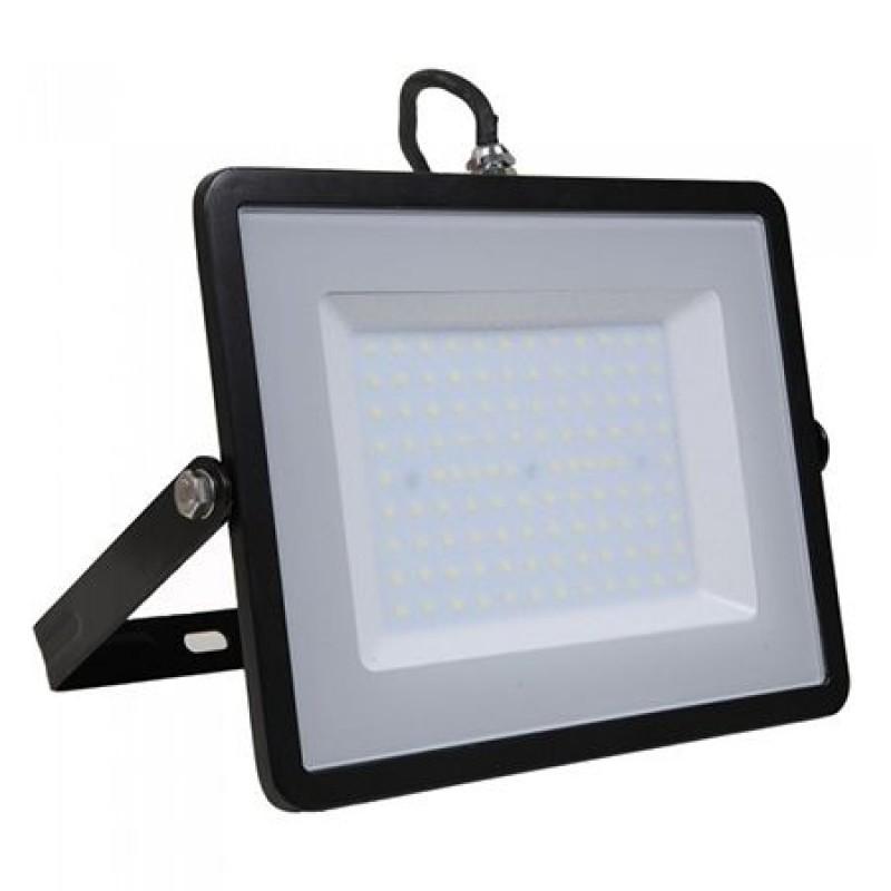 Refector LED SMD, putere 100 W, 8000 lm, 4000 K, alb neutru, cip Samsung, rama neagra 2021 shopu.ro