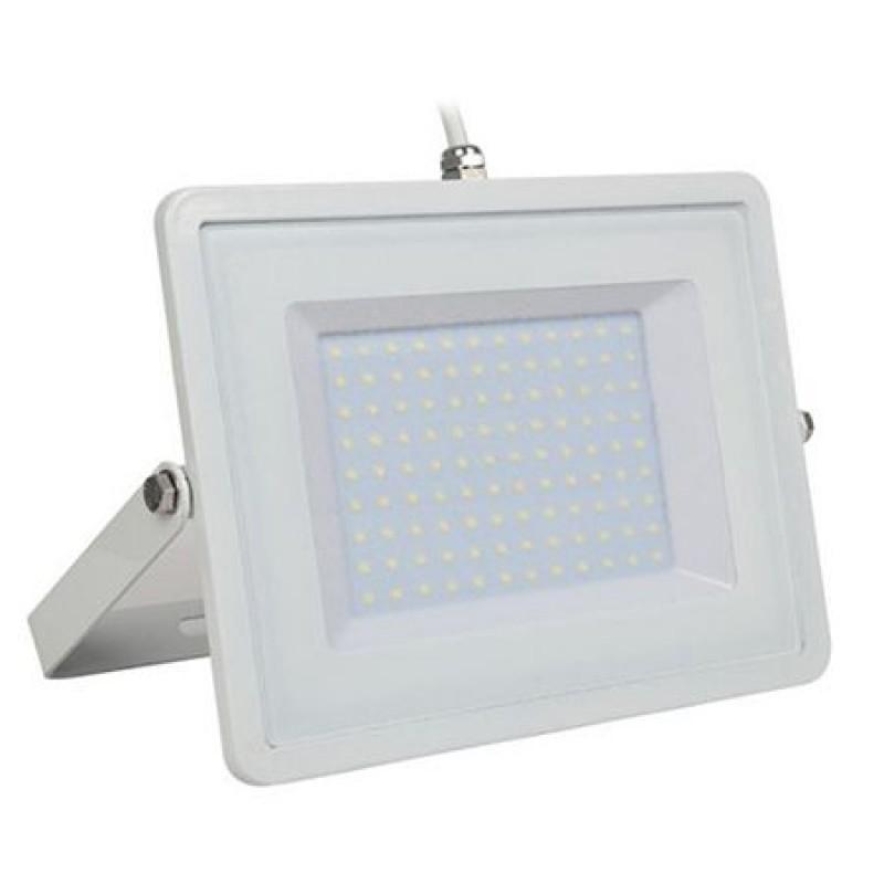 Proiector LED, 100 W, temperatura alb rece, 8500 lm, alb