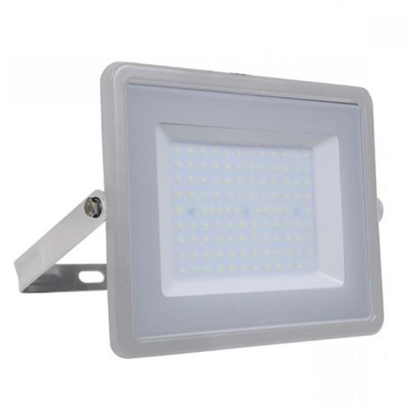 Reflector LED SMD, putere 100 W, 8000 lm, 6400 K, alb rece, cip samsung, rama gri