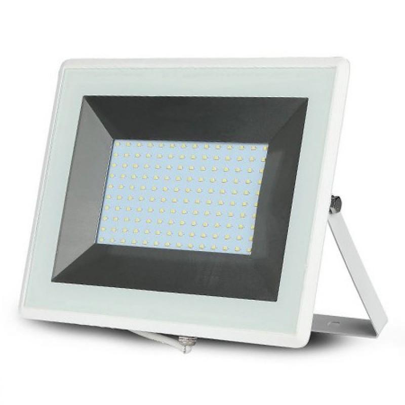 Reflector LED SMD V-Tac, 100 W, 6500 K, IP65, 8500 lumeni, 100 grade dispersie, Alb shopu.ro
