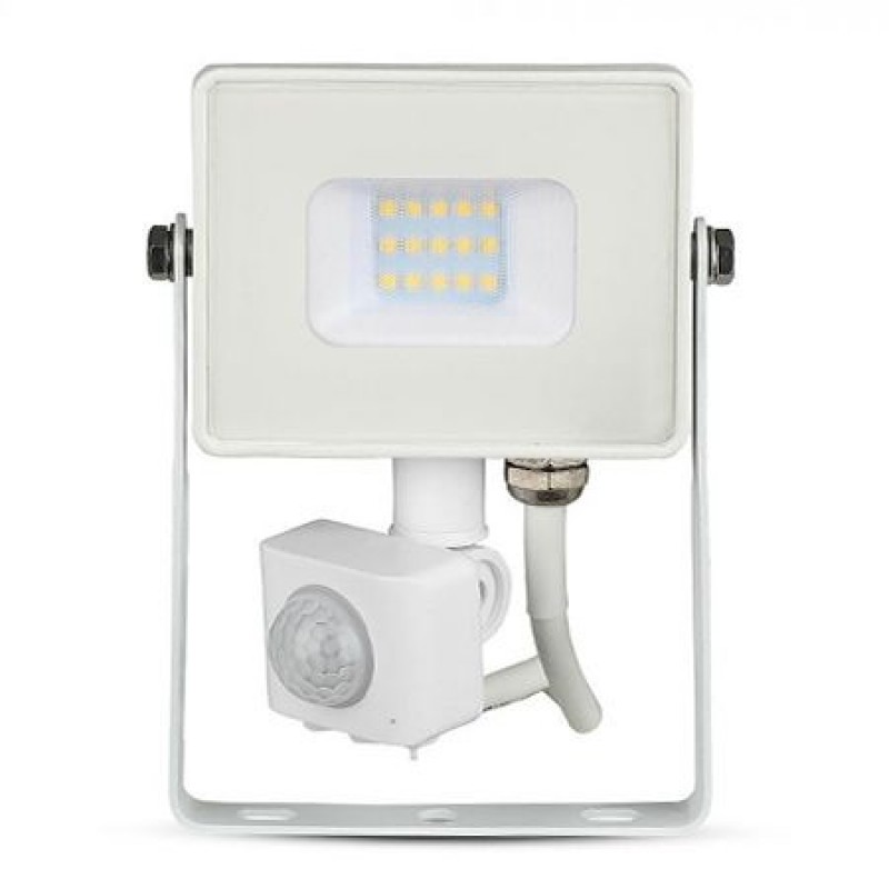 Reflector LED SMD cu senzor miscare, 10 W, 3000 K, 800 lm, IP65, lumina alba 2021 shopu.ro