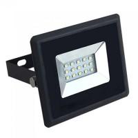 Reflector LED SMD, 10 W, 4000 K alb cald, 850 lm, negru