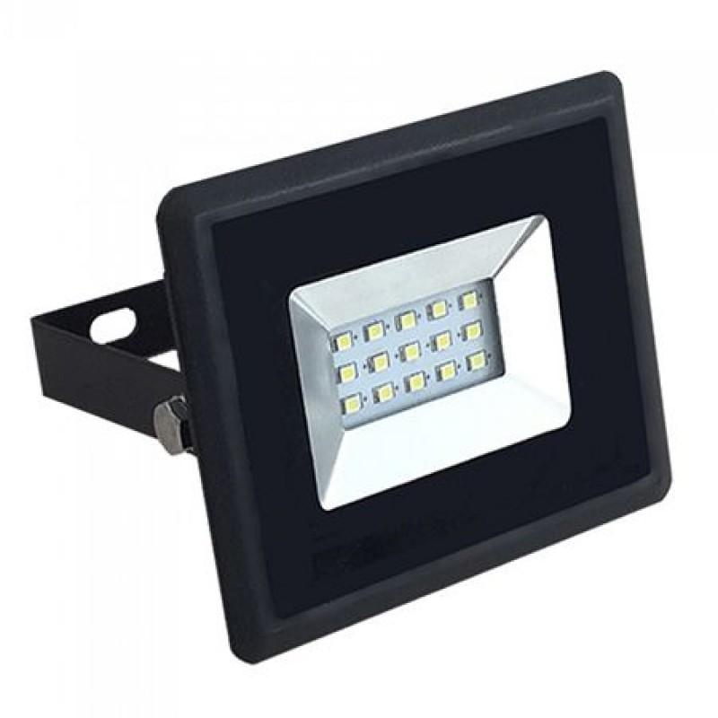 Reflector LED SMD, 10 W, 4000 K alb cald, 850 lm, negru 2021 shopu.ro